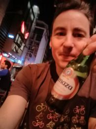 Almaza beer in Beirut