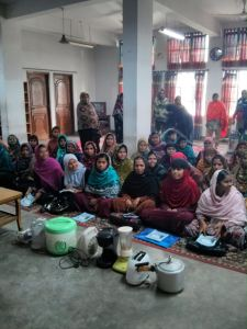 Young women in Bangladesh receive training on electrical goods found in Middle Eastern households